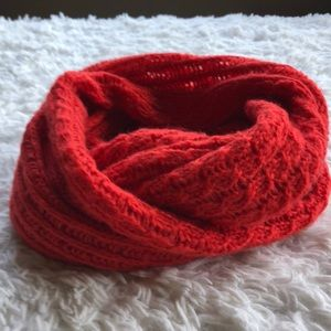 Bright Red H&M Infinity scarf EUC